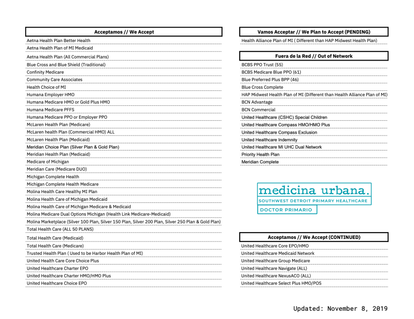 Medicina Urbana - Insurance List Updated 11-8-19 .png